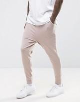 Asos Drop Crotch Joggers In Pink