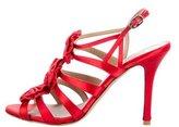 Valentino Satin Bow-Embellished Sandals