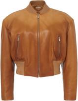 Miu Miu Oversized Leather Jacket