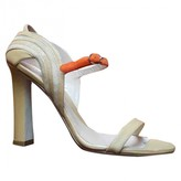Paula Cademartori Beige Leather Sandals