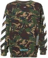 Off-White graphic camouflage sweatshirt