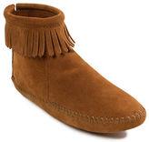 Minnetonka Back Zip Suede Boots