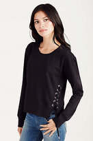 True Religion Lace Up Womens Sweatshirt