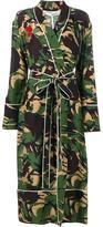 Off-White camouflage print robe - women - Silk/Cotton - XS