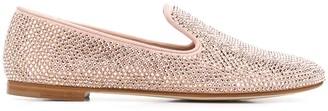 Giuseppe Zanotti Crystal Embellished Loafers