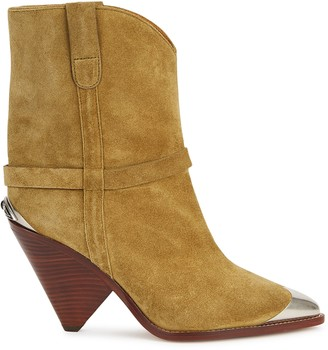 Isabel Marant Lamsy 90 sand suede Western boots