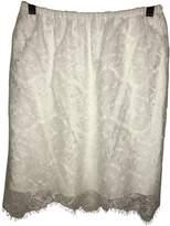 Carven White Silk Skirts