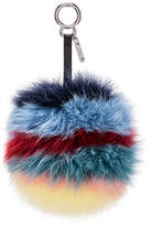Fendi Rainbow Fox Fur Pom Pom Charm