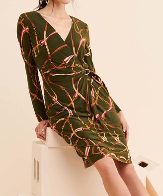 Lauren Ralph Lauren Women's Casual Dresses OLIVE - Olive Casondra Belted Jersey Dress - Women