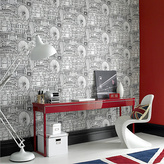 Graham & Brown Wallpaper Sample - Londinium White