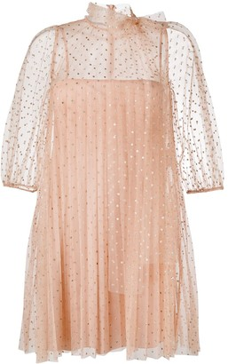 RED Valentino Polka Dot Tulle Layered Dress