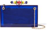 Charlotte Olympia Dora 1920 Embellished Perspex Clutch - Blue