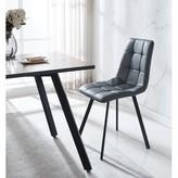Seshadri Upholstered Side Chair in Gray Brayden Studio