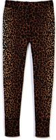 Giraffe Print Cropped Trouser