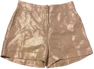 Tara Jarmon Gold Cotton Shorts