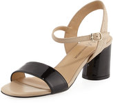 Neiman Marcus Landy Leather City Sandal, Black