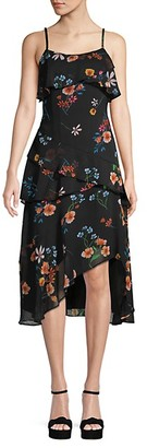Rachel Roy Floral Ruffled Midi Dress