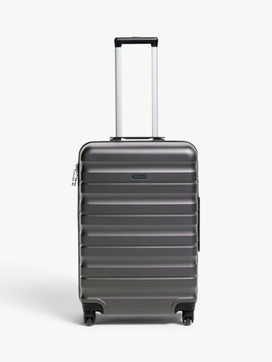 John Lewis & Partners Girona 65cm 4-Wheel Medium Suitcase, Grey