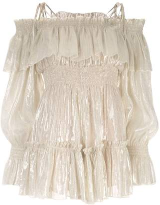 Alice McCall Champers off-the-shoulder playsuit