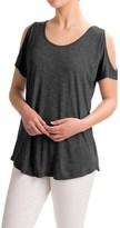 CG Sport Cable & Gauge Sport Cold-Shoulder Shirt - Viscose, Short Sleeve (For Women)