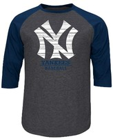 MLB New York Yankees Men's 3/4 Sleeve Raglan T-Shirt