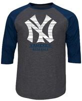 New York Yankees Men's 3/4 Sleeve Raglan T-Shirt