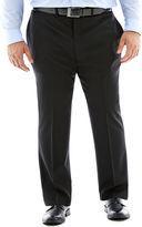 Claiborne Black Flat-Front Suit Pants - Big & Tall