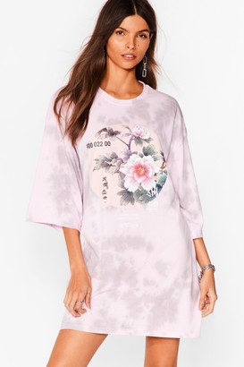 Nasty Gal Womens Be the Flower Graphic Tee Dress - Purple - S, Purple