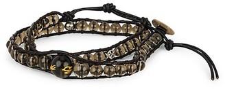 Jean Claude Smoky Quartz Adjustable Multi-Wrap Bracelet