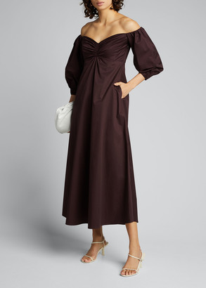A.L.C. Lisbeth Off-Shoulder Sweetheart Long Dress