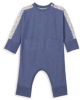 Burberry Baby Boy's Colby Four-Piece Bodysuit, Hat, Bib & Pouch Set