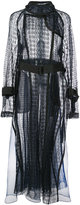 Sacai sheer lace trench coat - women - Cotton/Polyester - 2