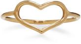 Jordan Askill Yellow Gold Delicate Heart Ring