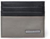 Armani Jeans Black & Grey Leather Card Case