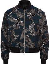 Markus Lupfer Jacquard Bird Charlotte Bomber Jacket