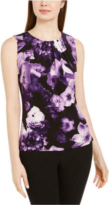 Calvin Klein Floral Print Sleeveless Top