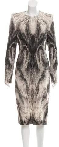 Alexander McQueen Wool Midi Dress w/ Tags