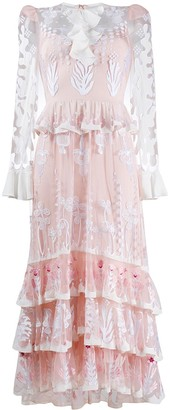 Temperley London Layered Embroidered Dress