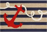 Liora Manné Front Porch Indoor/Outdoor Anchor Navy 2'6'' x 4' Area Rug