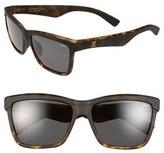 Zeal Optics Women's 'Kennedy' 56Mm Polarized Plant Based Retro Sunglasses - Kennedy Black Coffee