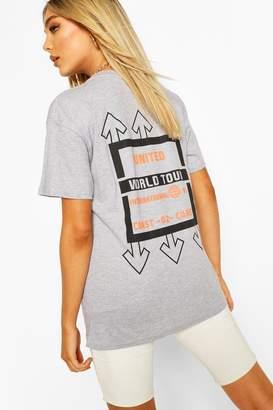 boohoo United Graphic Print T-Shirt