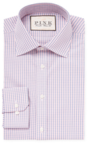 Thomas Pink Classic Fit Corson Checkered Dress Shirt