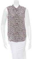 Theyskens' Theory Leopard Print Silk Top