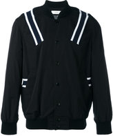 Facetasm ribbed stripe bomber jacket