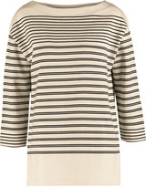 Vince Striped cotton-jersey sweatshirt