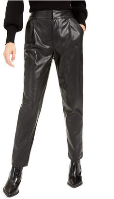 Bar III Becca Tilley x Pleated Faux-Leather Pants
