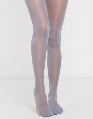 Pretty Polly high shine sheer tights in blue