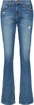 Current/Elliott The Slit Slim mid-rise distressed bootcut jeans