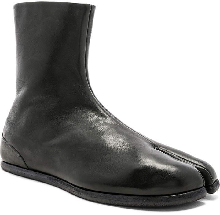 Maison Margiela Leather Tabi Boots