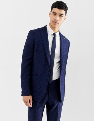 Farah Smart Farah Hookstone party skinny suit jacket in floral jacquard
